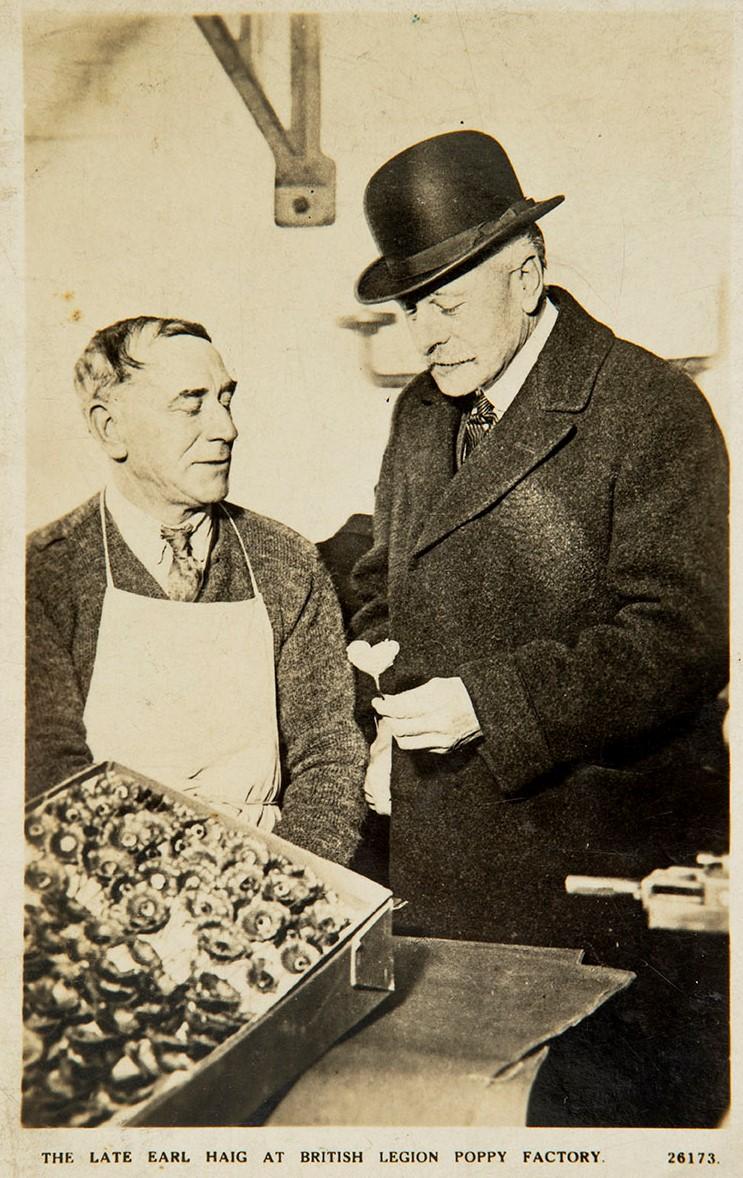 Earl Haig at the Poppy Factory Richmond